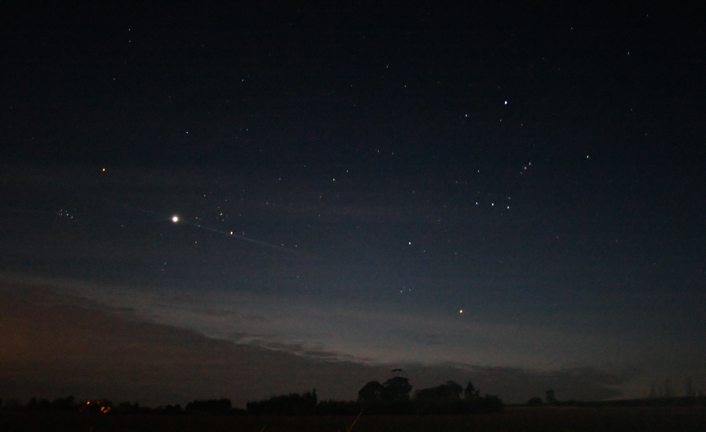 winter night sky planets - photo #1